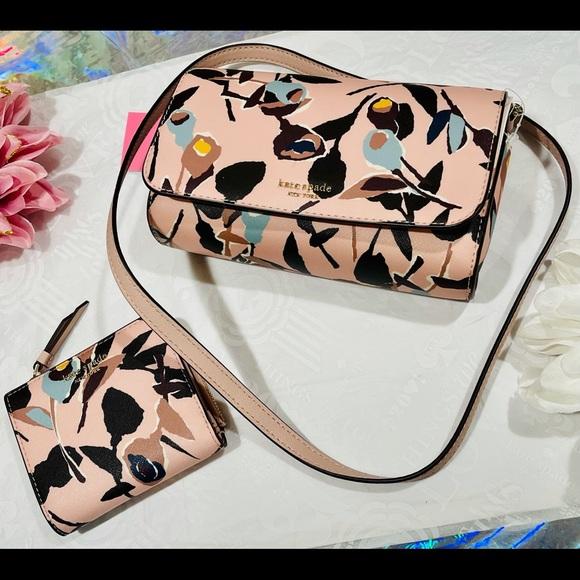 kate spade ♠️ cameron paper rose 🌹 bag & wallet